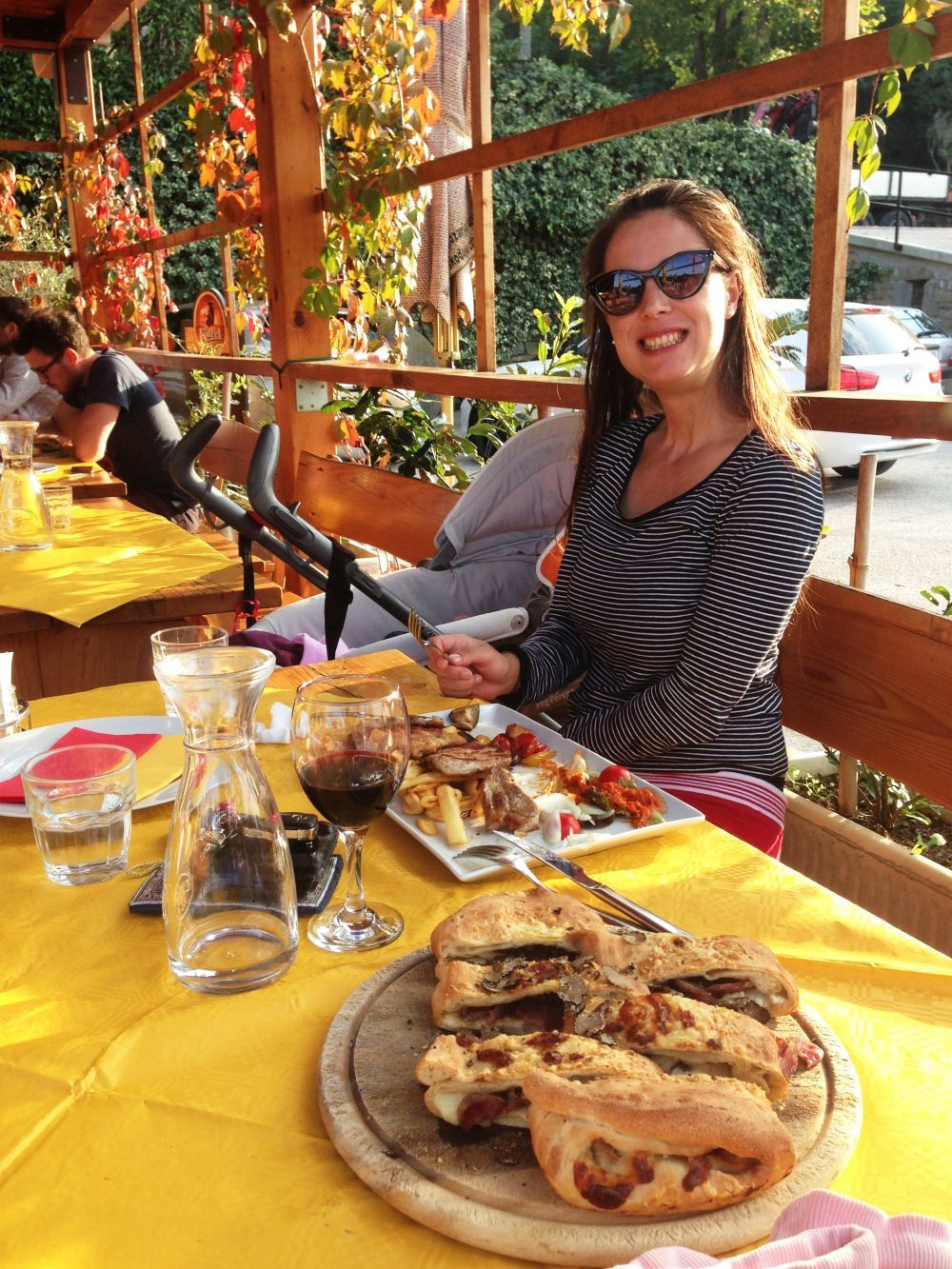 Enjoying ombolo with truffles at Gostilna Oljka in Vanganel (Koper).jpg