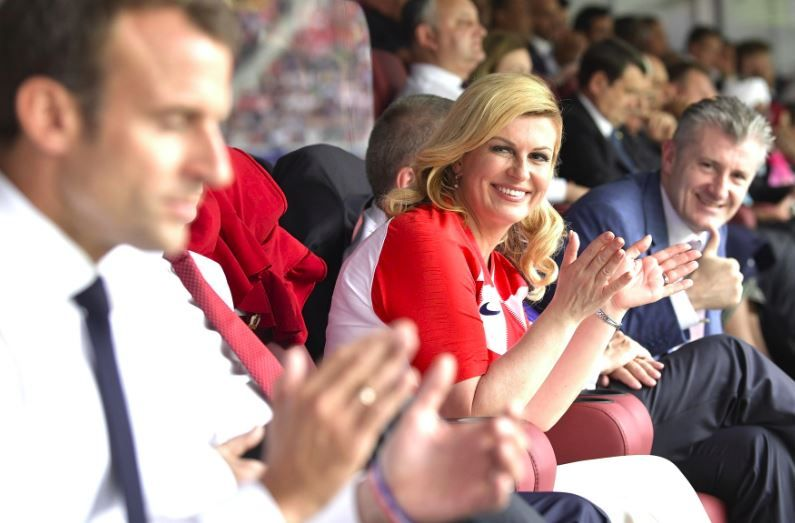 President of Croatia Kolinda Grabar-Kitarovic at the final match of the 2018 World Cup.JPG