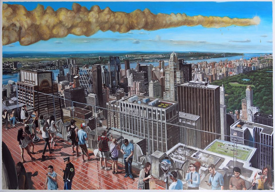 Top of The Crisis 2, oil on canvas, 4.6 x 6.5 feet.jpg