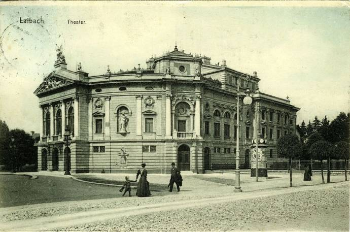 Postcard of the Opera and Ballet Theatre in 1910