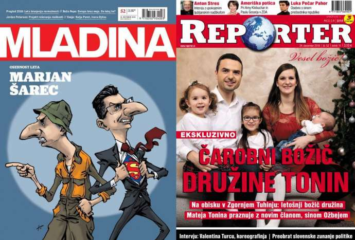 Mladina: Marjan Šarec, Person of the Year. Reporter: A magical Christmas with the Tonin family