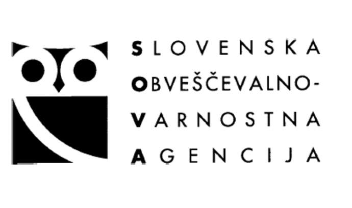 "The logo of the Slovenian police and intelligence agency, SOVA (with ""sova"" meaning ""owl"" in Slovene)"