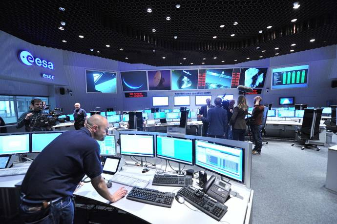 Main Control Room / Mission Control Room of ESA at the European Space Operations Centre (ESOC) in Darmstadt, Germany