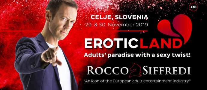 Your Chance to Party with Rocco Siffredi & Friends in Celje, 29 & 30 November 2019