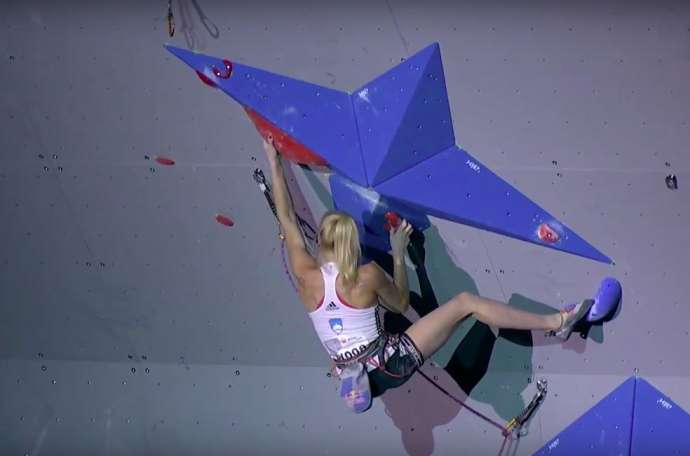 Sport Climbing: Garnbret & Krampl Get Gold & Silver in Lead (Video)