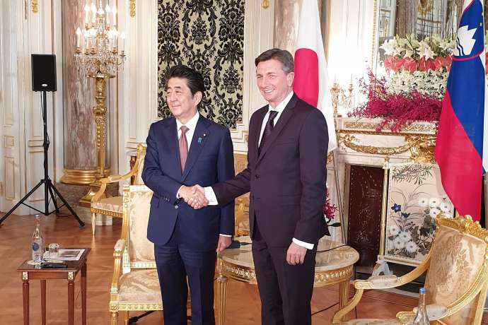 Presidents Abe and Pahor