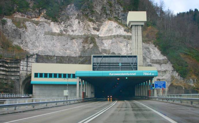 The Austrian side of the tunnel
