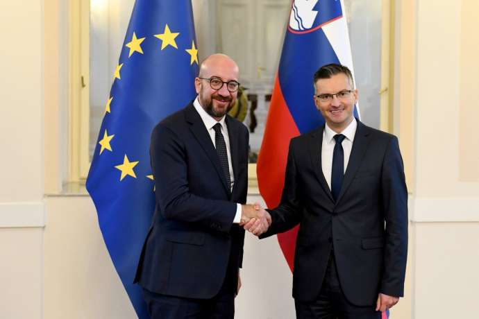 Prime Ministers Charles Michel and Marjan Šarec