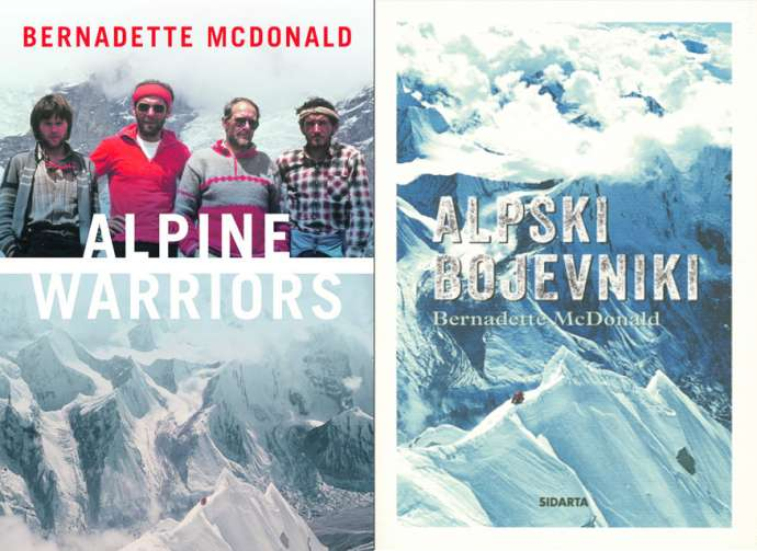 The covers of the book's English and Slovene editions