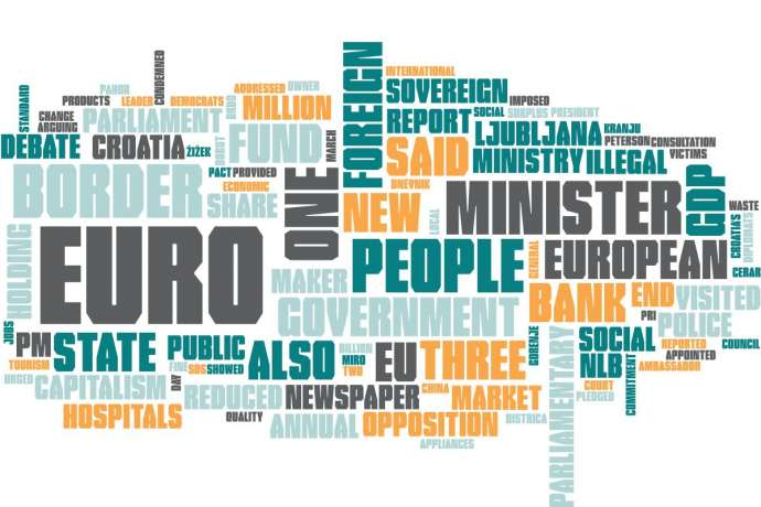 Word cloud of the summary, with Slovenia, Slovenian and year removed