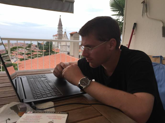 Working in Piran