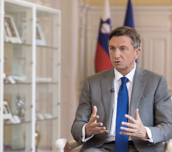 Borut Pahor at an earlier event