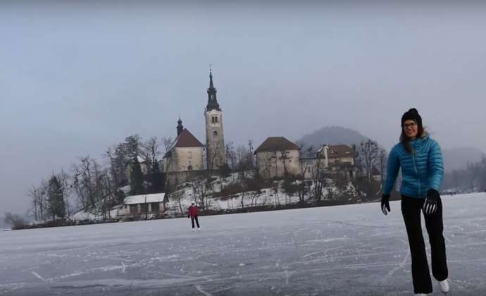 Frozen Lake Bled