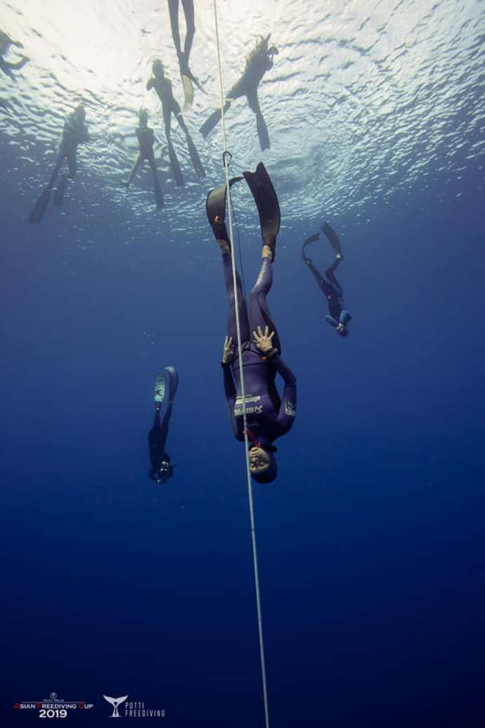 Alenka Artnik at Asian Freediving Cup 2019