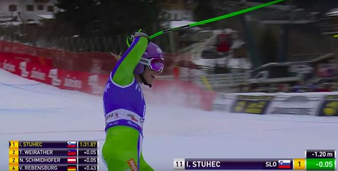 Štuhec Wins Again in Val Gardena, Strengthening Comeback (Videos)