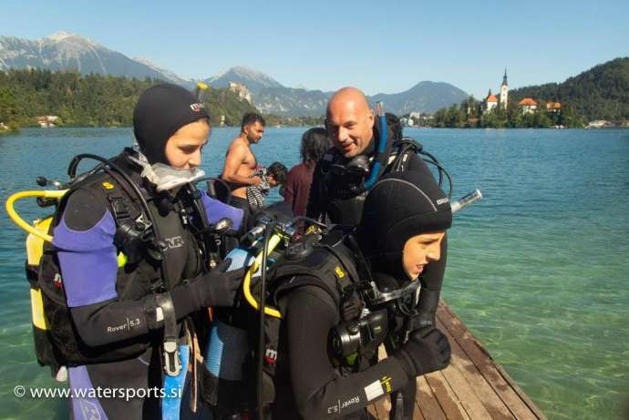 See Bled from a new perspective, and get certified to dive all over the world