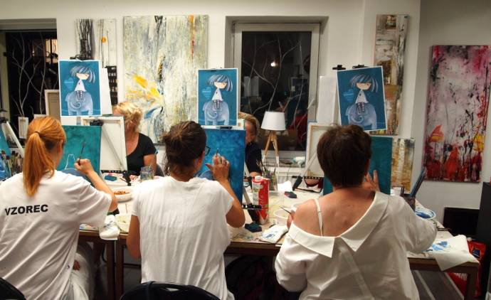 Design with Wine Brings Painting Parties to Ljubljana