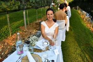 Denise Rejec of Wine Dine Slovenia at the Strelec Restaurant Ljubljana Castle Vineyard dinner