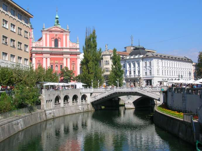 The image used for Ljubljana in the story