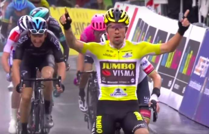 Cycling: Roglič Takes 4th Stage of Tour de Romandie, Set to Win Sunday's Final (Video)