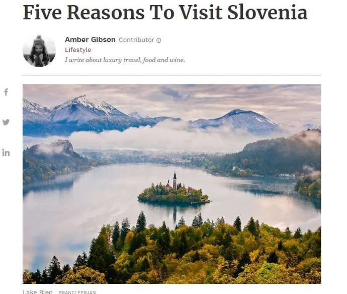 Forbes Gives 5 Reasons to Visit Slovenia: Adventure, Castles, Caves, Gastronomy & Wine
