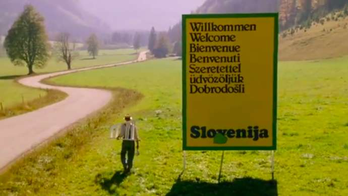 An old ad promoting Slovenia
