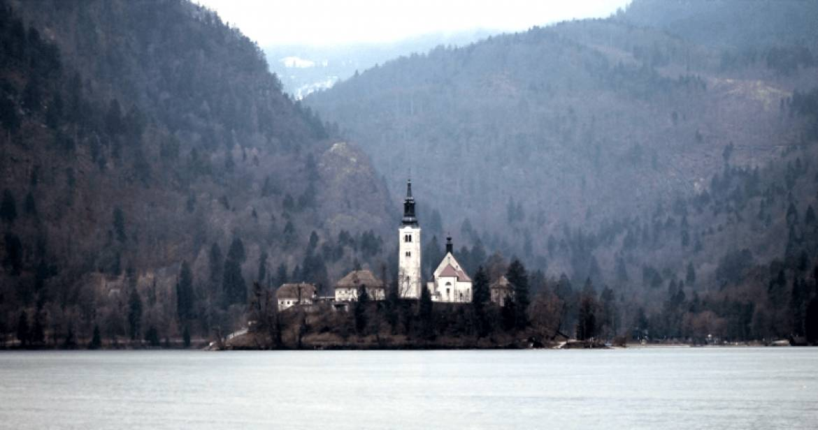 Lake Bled In Late Winter