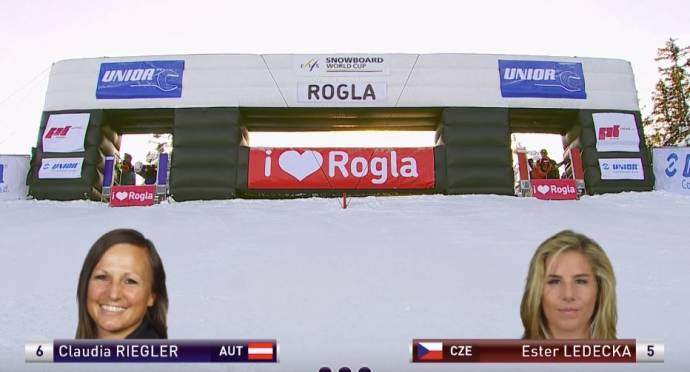 Prommegger and Ledecka Win Snowboard World Cup Event on Rogla (Video)