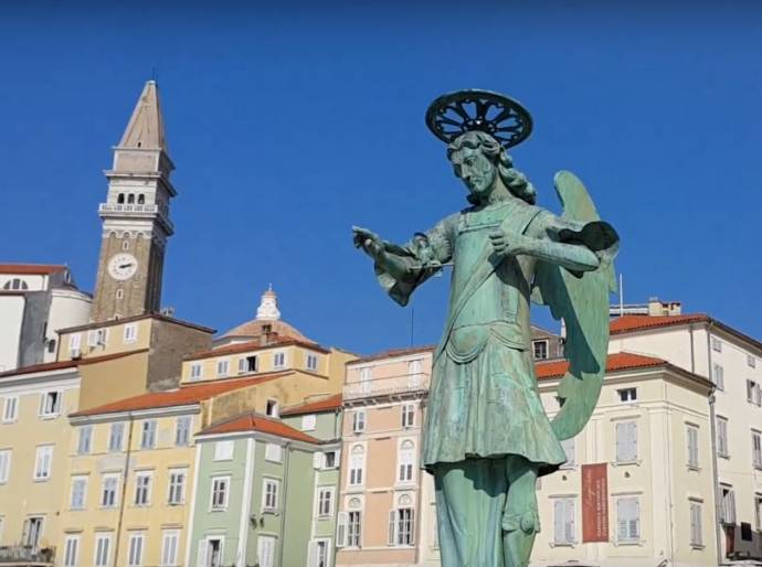 Archangel Michael Returns to St George in Piran (Video)