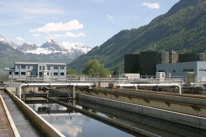 A sewage treatment plant in Switzerland