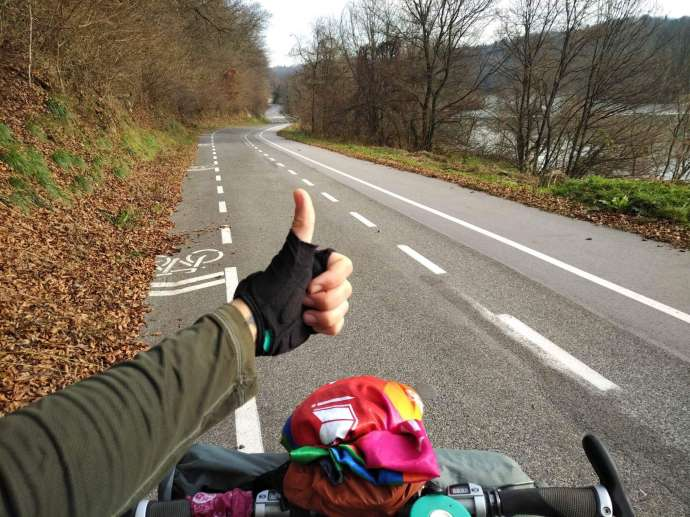 Thumbs up for some great cycle paths in Slovenia