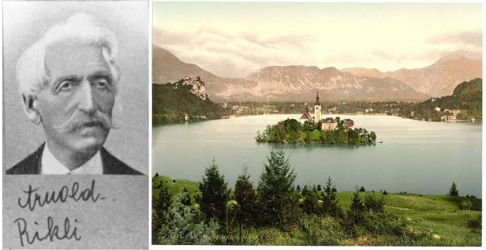 Arnold Rikli and a postcard of Lake Bled in the 1890s