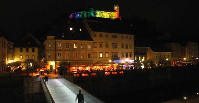 Ljubljana is an LGBT-friendly city, as seen with the Castle being lit up in rainbow colours during Pride