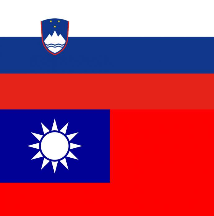 The Slovenian and Taiwanese flags