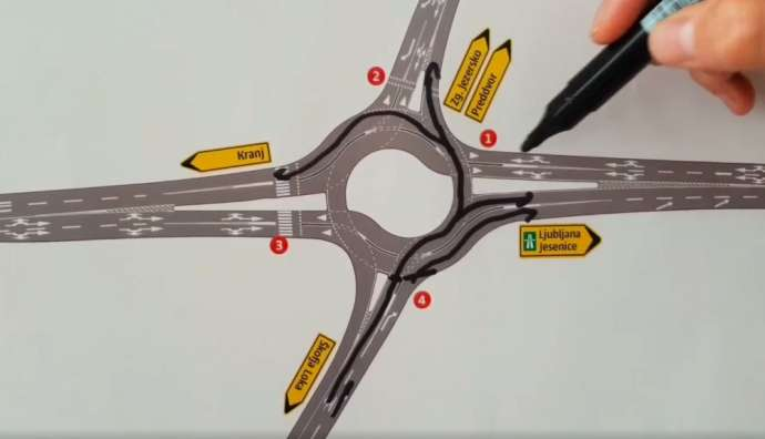 How to Use Primskovo Double Lane Roundabout in Kranj