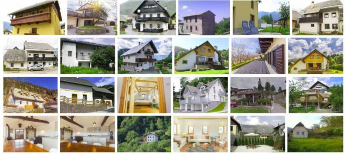 Some of the properties from Think Slovenia
