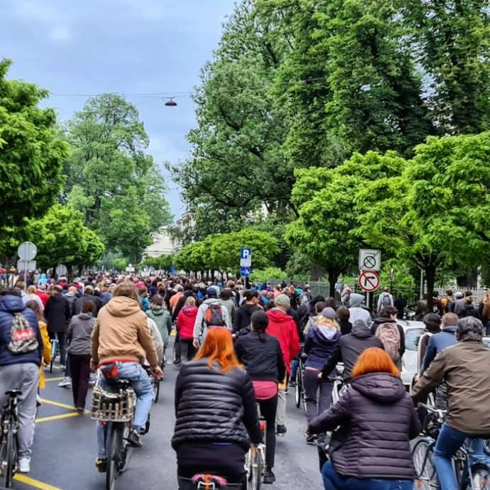 Anti-Janša Bicycle Protests Continue in Slovenia (Videos)