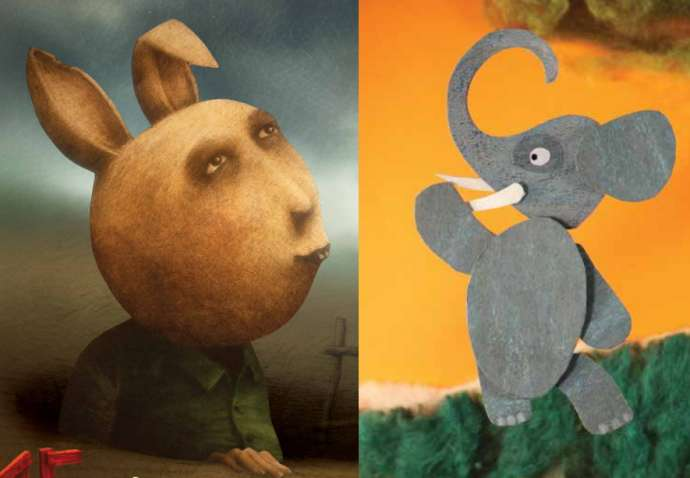 Two of the images on the programmes, aimed at adults and children