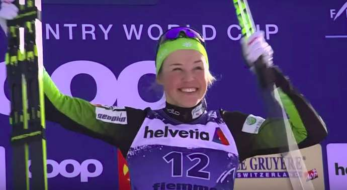 Cross-Country Skiing: Lampič Wins Again in Val di Fiemme (Video)