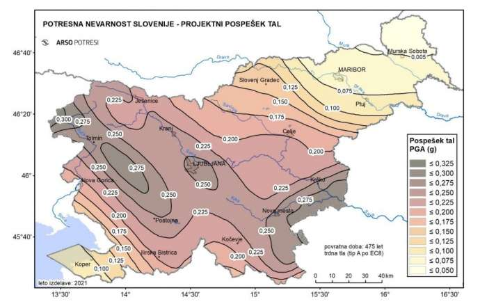 New Seismic Hazard Map Shows Earthquake Risks for Slovenia