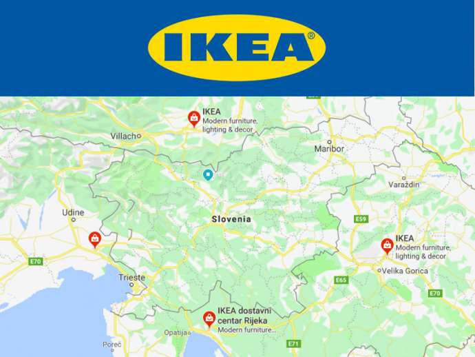 Stopped at the border - the nearest IKEA stores if you live in Slovenia