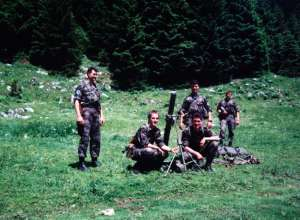 Conscript training in early 1990s