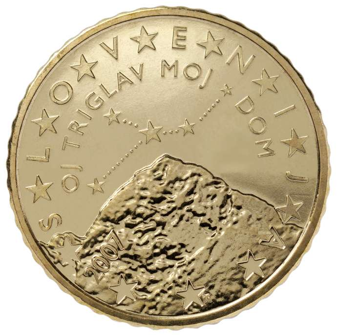 Triglav in your pocket on the 50 cent coin