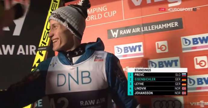 Peter Prevc Wins at Olympic Hill in Lillehammer