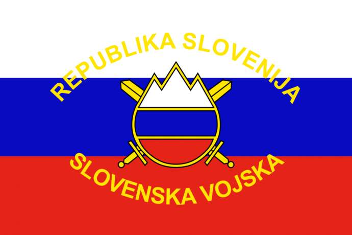 The flag of the Slovenian Armed Forces