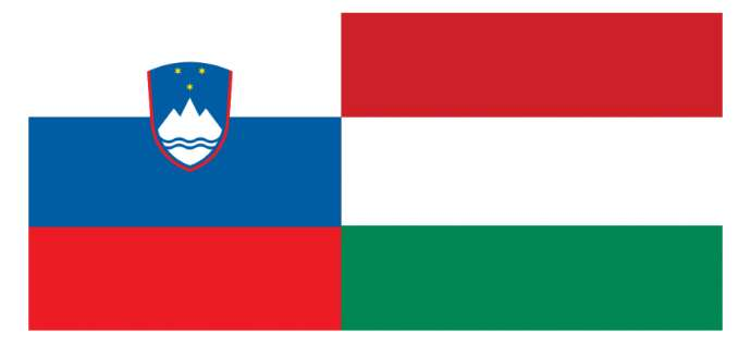 Slovenian and Hungarian flags