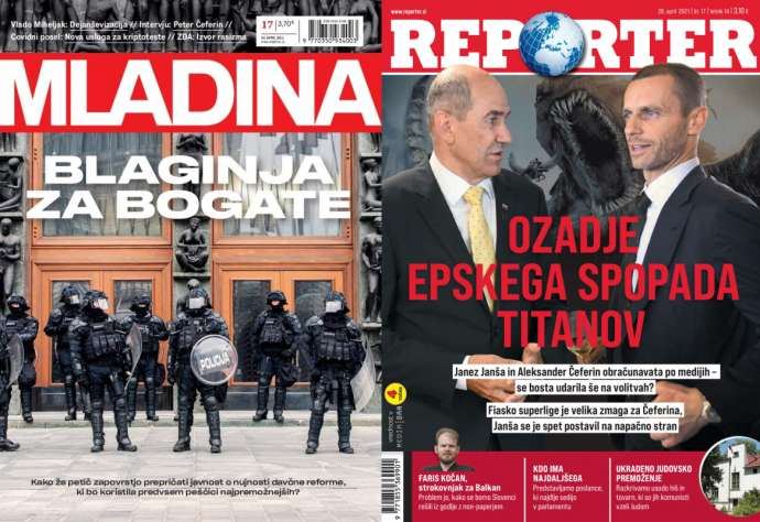 What Mladina & Reporter Are Saying This Week:  Government Wrongdoing vs Čeferin
